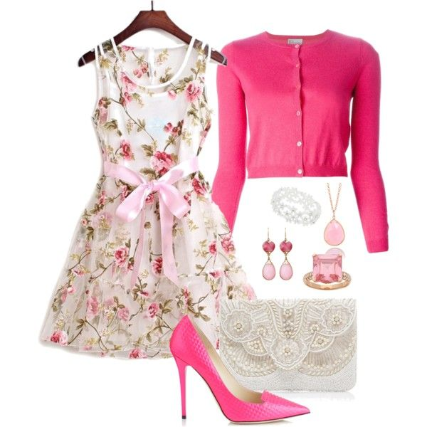 Tea party 291 by adgubbe on Polyvore featuring polyvore, fashion, style, RED Valentino, Jimmy Choo, Forever New, Irene Neuwirth, Sterling, Janna Conner and Dorothy Perkins