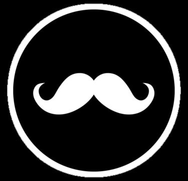 Mustache Ideology Sticker By Ideology Mustache Logo Mustache Handlebar Mustache