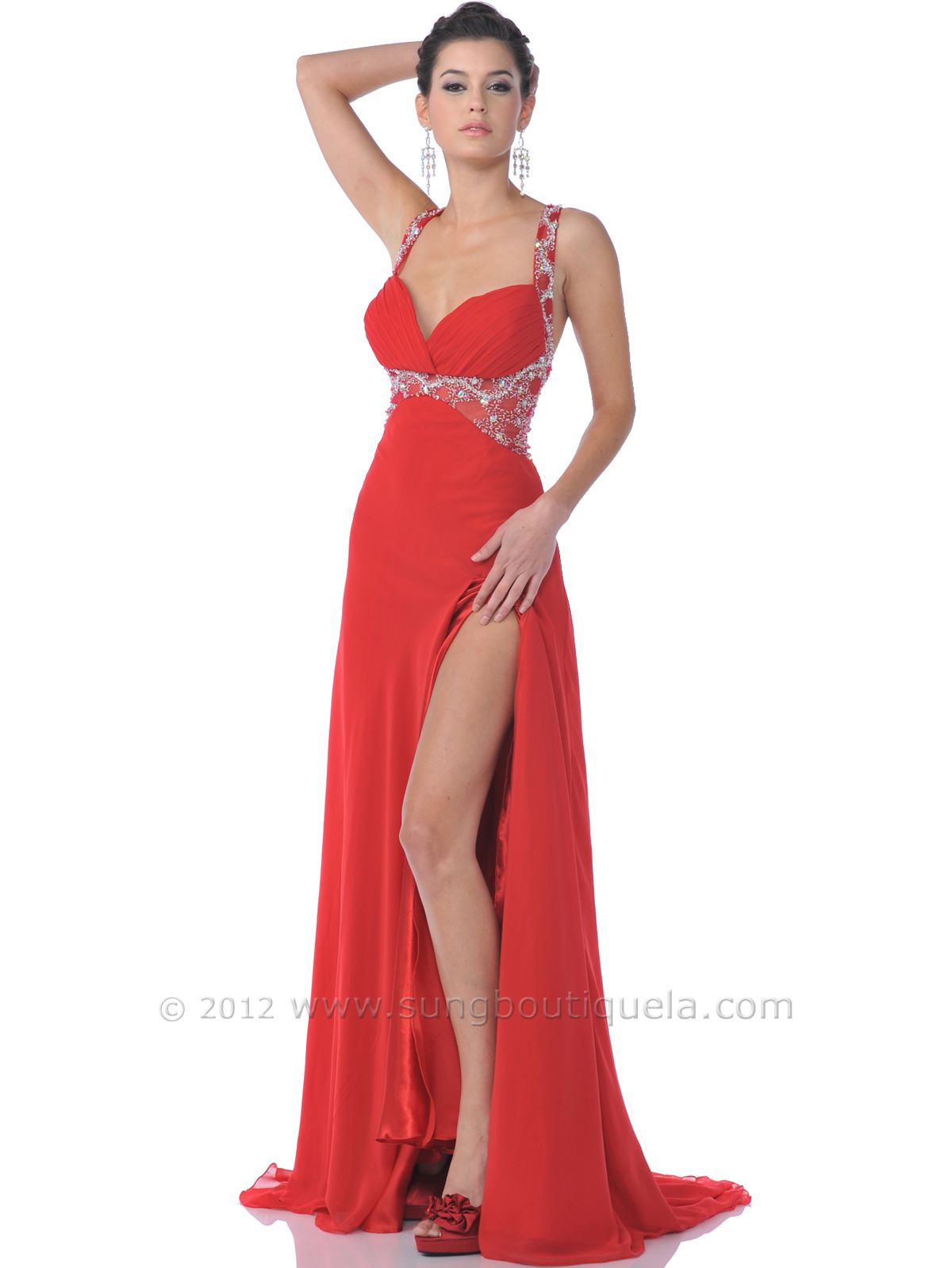 Red Strap Prom Dresses