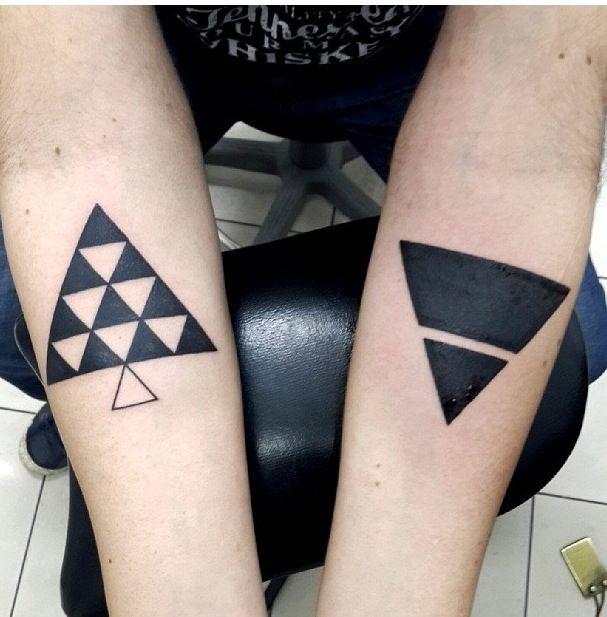 Geometric tattoo ink me pinterest geometric tattoos for Triple triangle tattoo