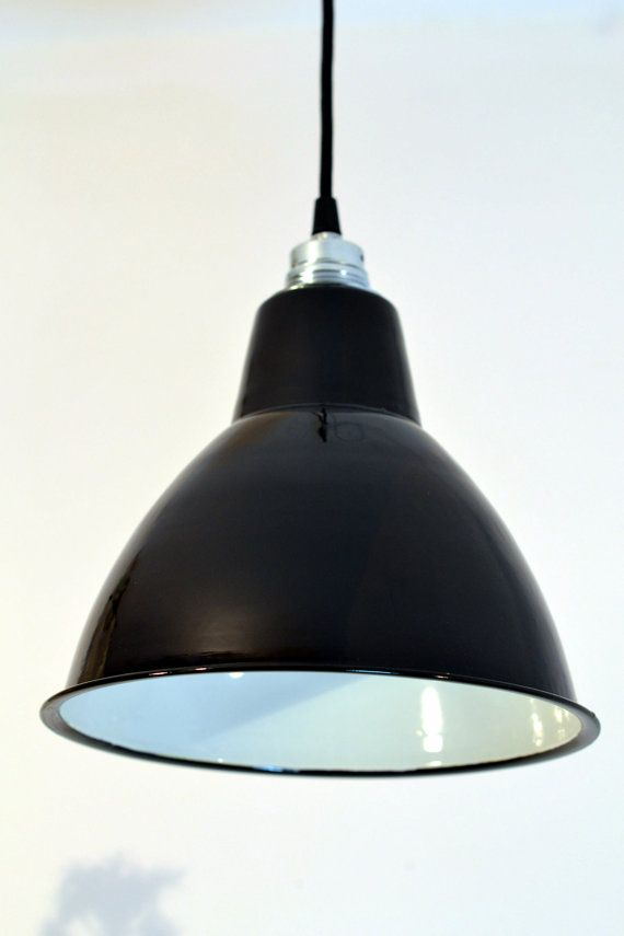 Lampe industriel EMAILLEE enamel par 10kgdesign sur Etsy