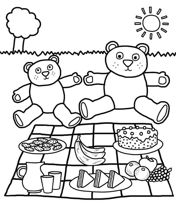Picnic Coloring Pages Bear Coloring Pages Teddy Bear Coloring Pages Minion Coloring Pages