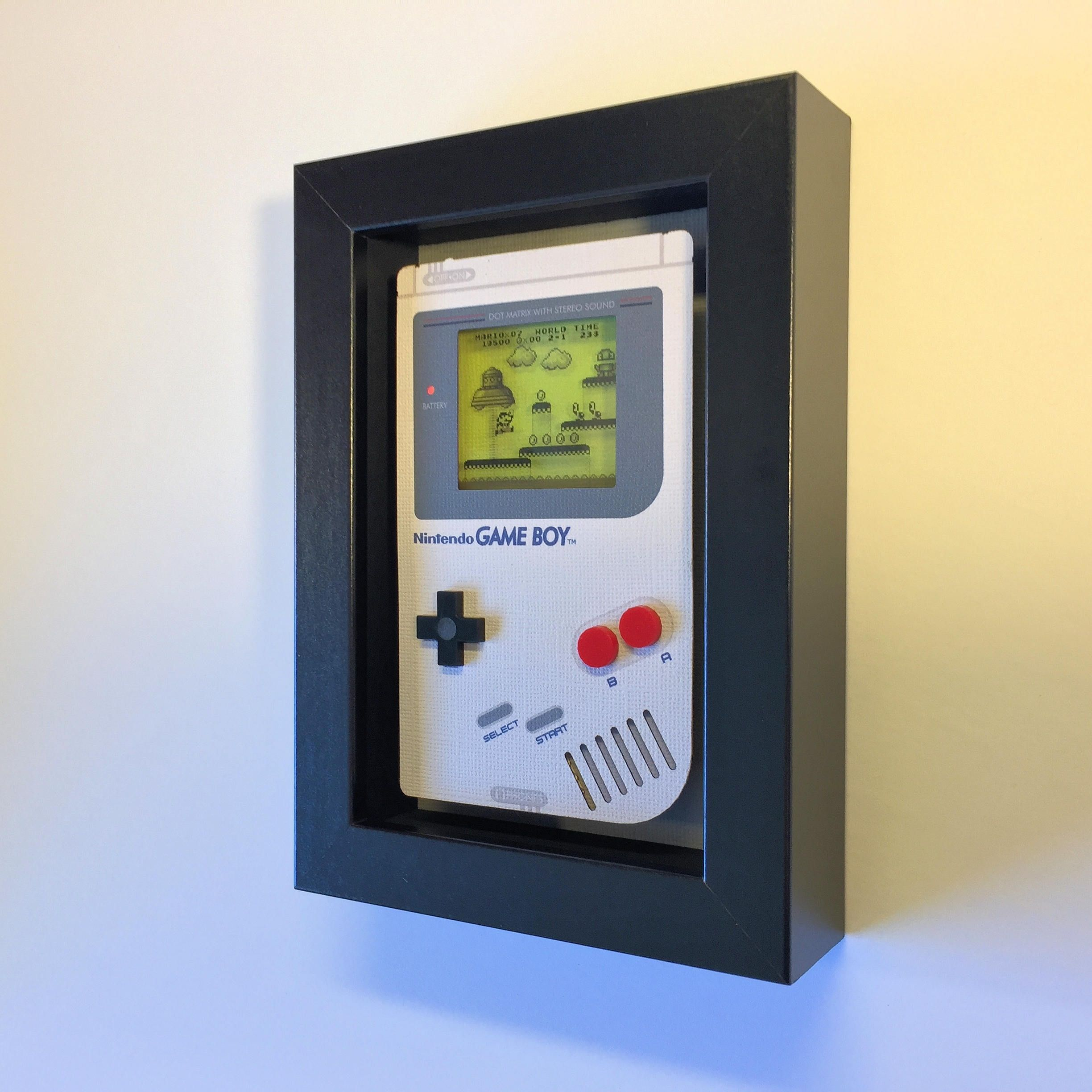 Super Mario Land Nintendo Game Boy Shadowbox Art Sculpture Etsy Shadow Box Art Gameboy Shadow Box