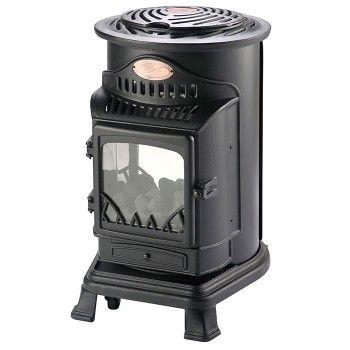 Calor Gas 3kw Matt Black Provence Stove Portable Gas Heater Portable Gas Heaters Portable Heater Stove