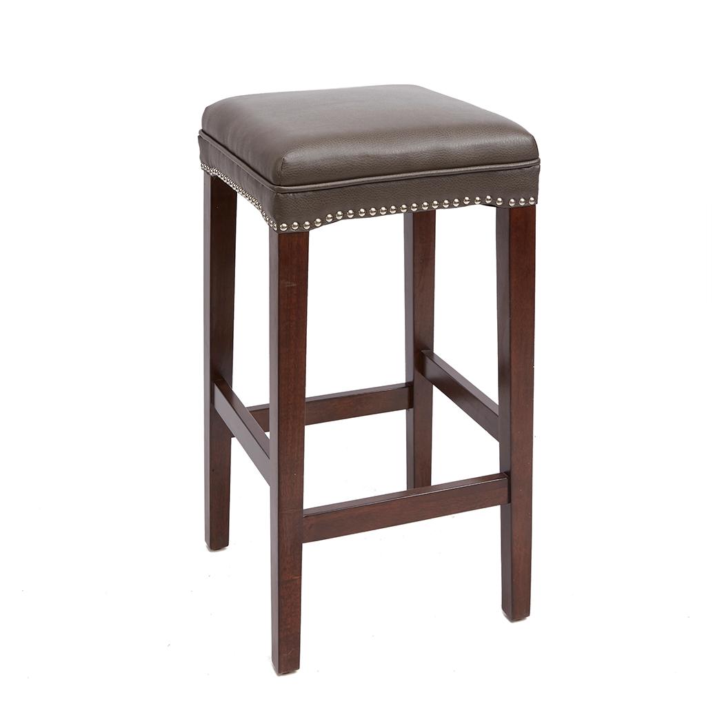 Emilion 29 Upholstered Wooden Saddle Stool Brown Bar Stools Brown Bar Stools Wood Bar Stools