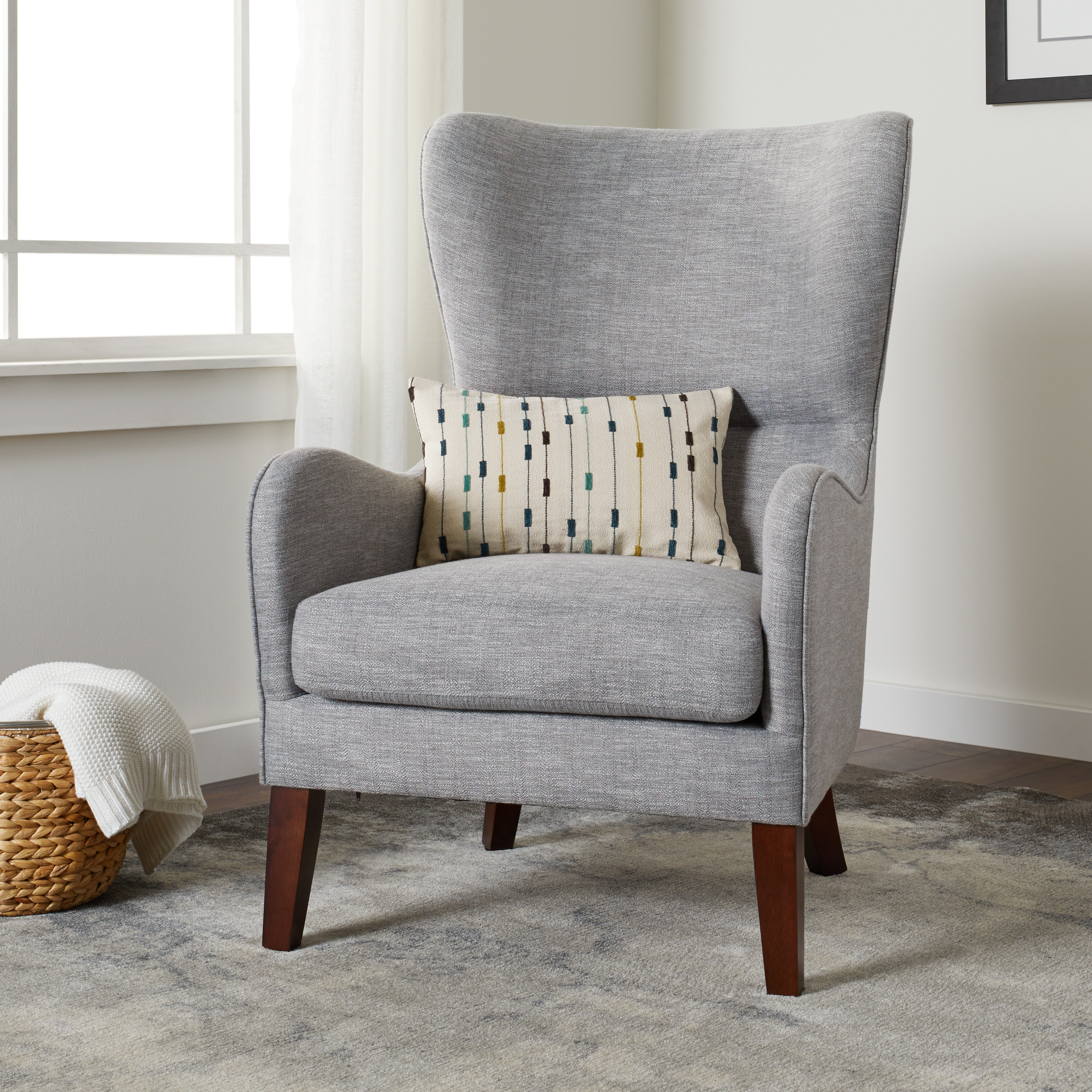 Carson Carrington Meredith Grey Arm Chair Fabric Cheap
