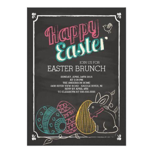 "Chalkboard Easter Brunch Dinner Party Invitation 5"" X 7"" Invitation Card"