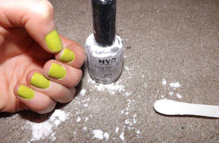 How To Make Matte Nail Polish With Baking Soda Matte Nails Diy Matte Nail Polish Diy Baking Soda Nails