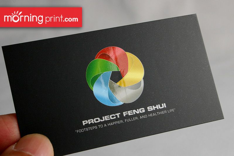 Business Card With Spot Uv On Morningprint S Standard Coated 14pt