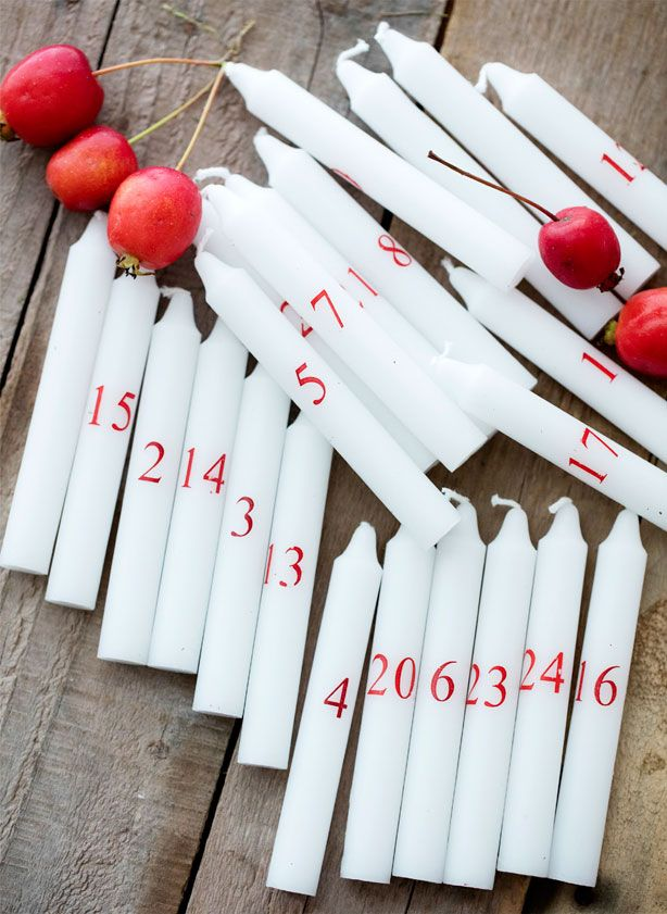 6 flotte dekorationer med kalenderlys - ALT.dk #kalenderlysdekorationer