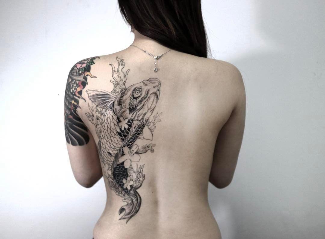 79 Koi Fish Tattoos Ideas October 2020 Back Piece Tattoo Tattoos Koi Fish Tattoo