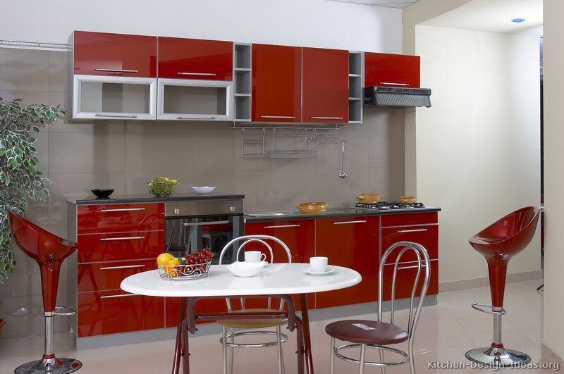 Modern Red Kitchen Cabinets #TT17 (Kitchen-Design-Ideas.org ...
