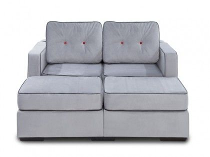 Superieur Lovesac 5 Series Movie Lounger Sofa Sectional With Alloy Tufted Velvish  Covers