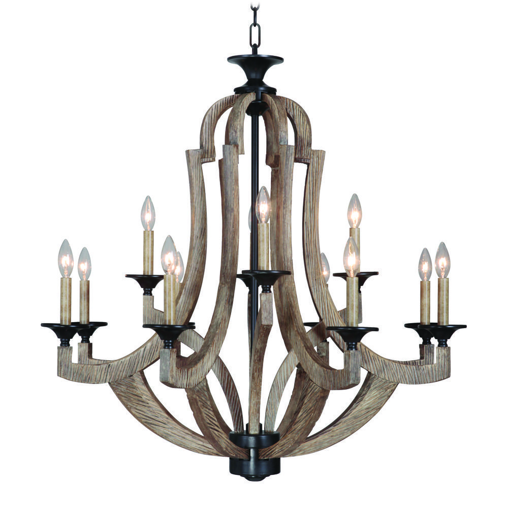 Craftmade Winton Weathered Pine Bronze Chandelier New