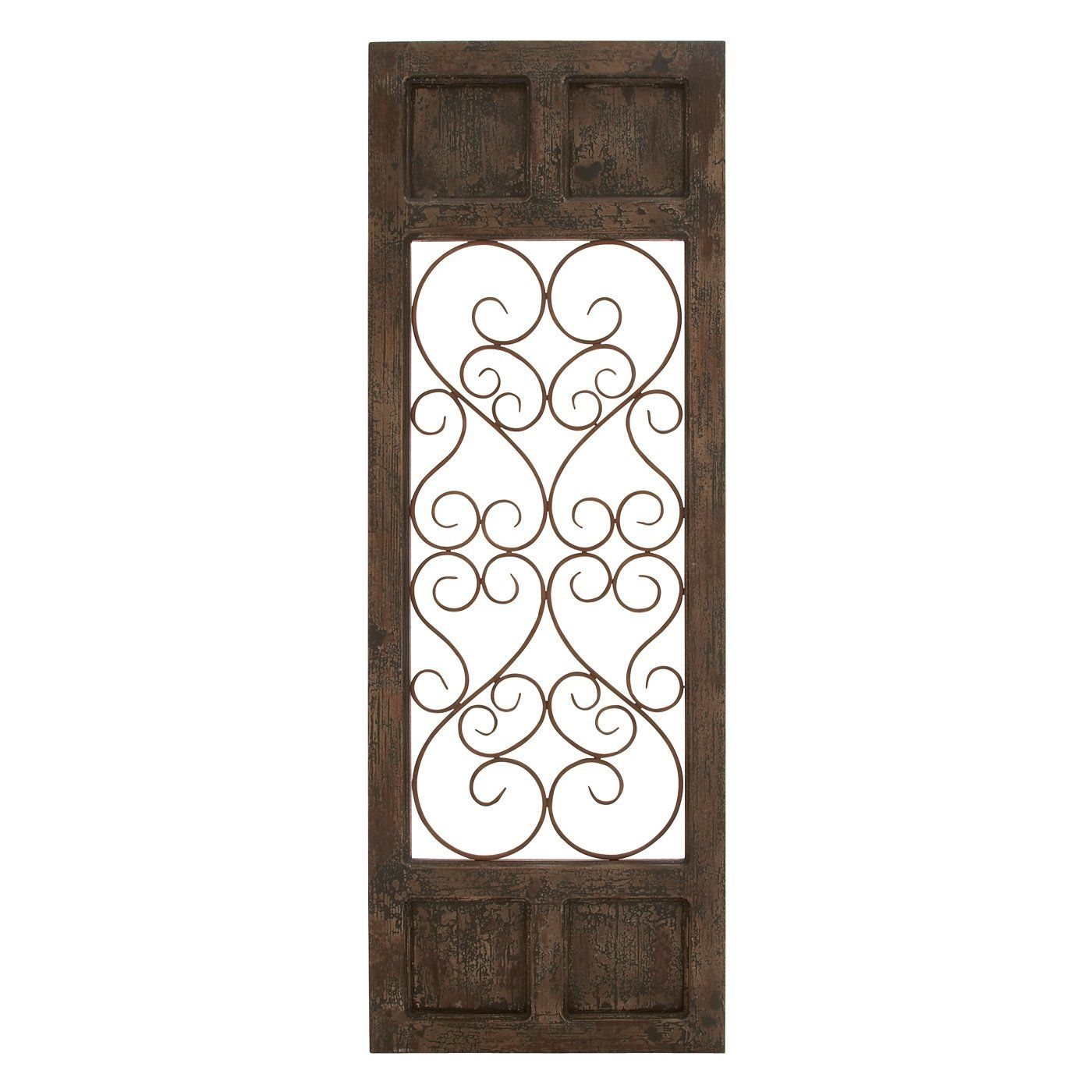 Kitchen metal wall decor - Woodland Imports 52792 Classic Metal And Wood Decorative Wall Panel Lowe S Canada