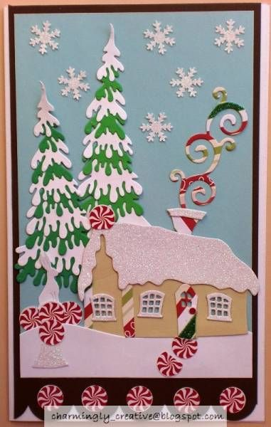 Winter Cottage by Charminglycreative - Cards and Paper Crafts at Splitcoaststampers