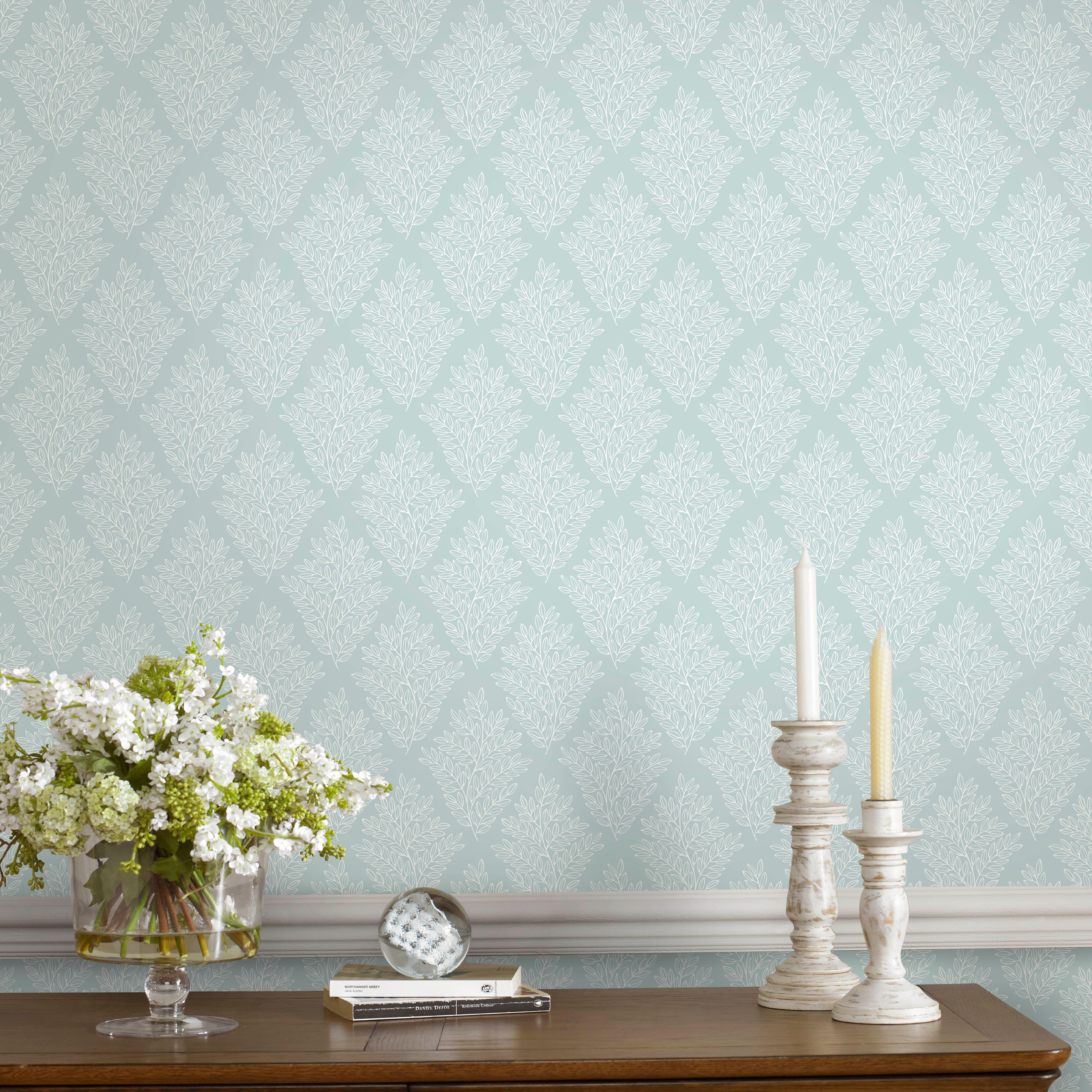 fresco duck egg elinor wallpaper | fresco, wallpaper and living rooms
