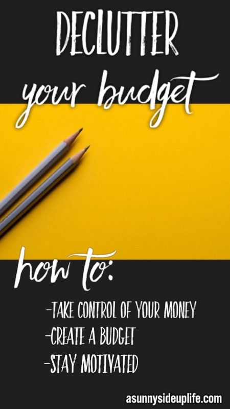 How to Declutter Your Budget Pinterest Declutter, Minimalism and - simple budget