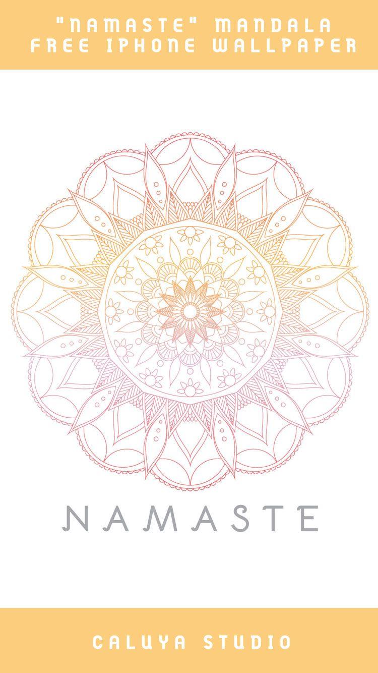 August Freebie 1 Mandala Yoga Iphone Wallpaper Caluya Design Free Svg Iphone Decal Wallpaper Crafts