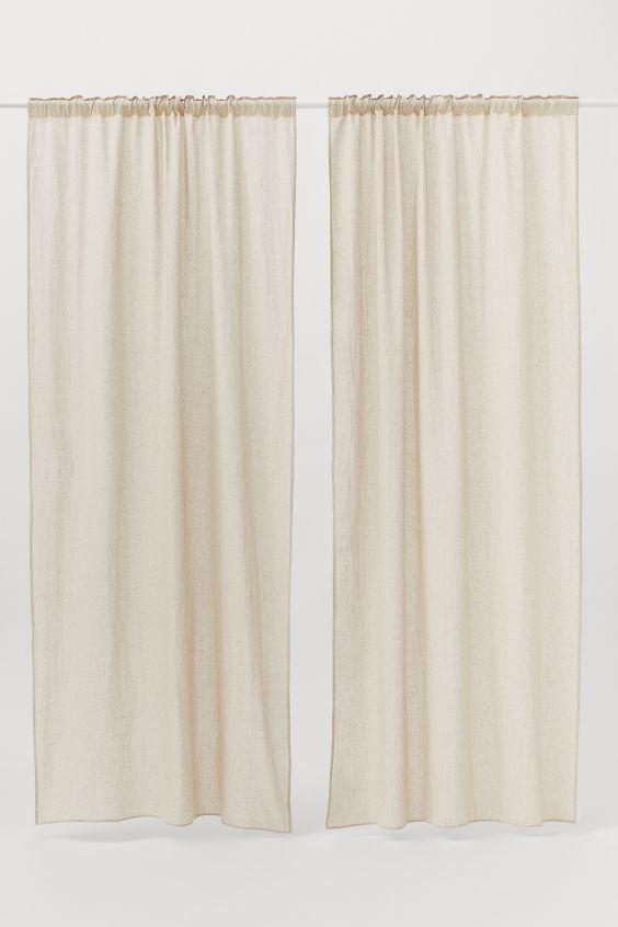 rideaux lot de 2 beige clair home