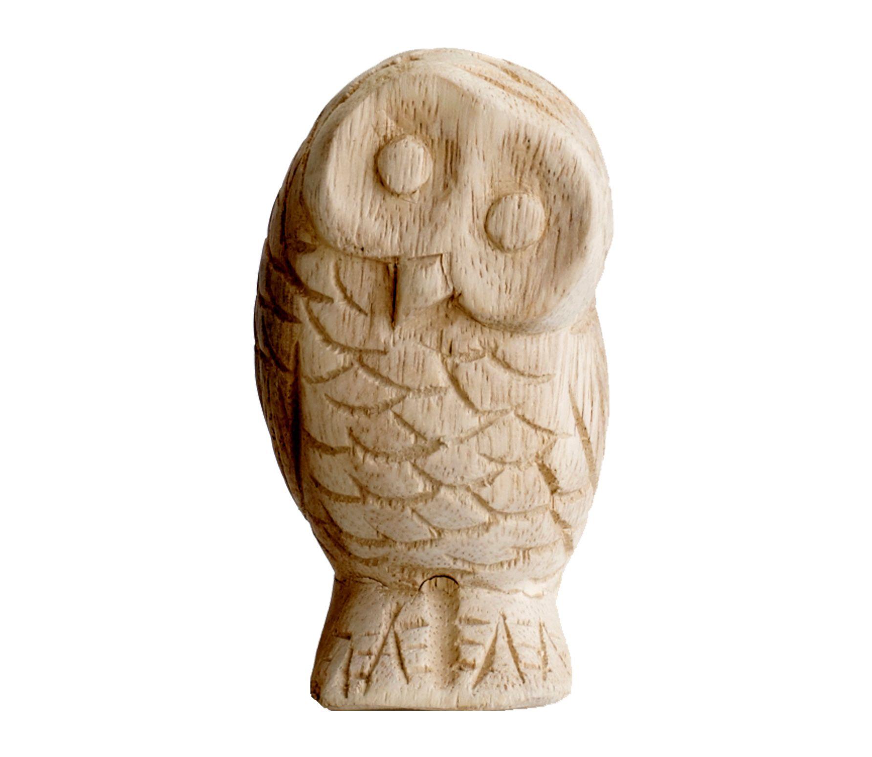 Voorbeeld van massief houten uil carving birds fan