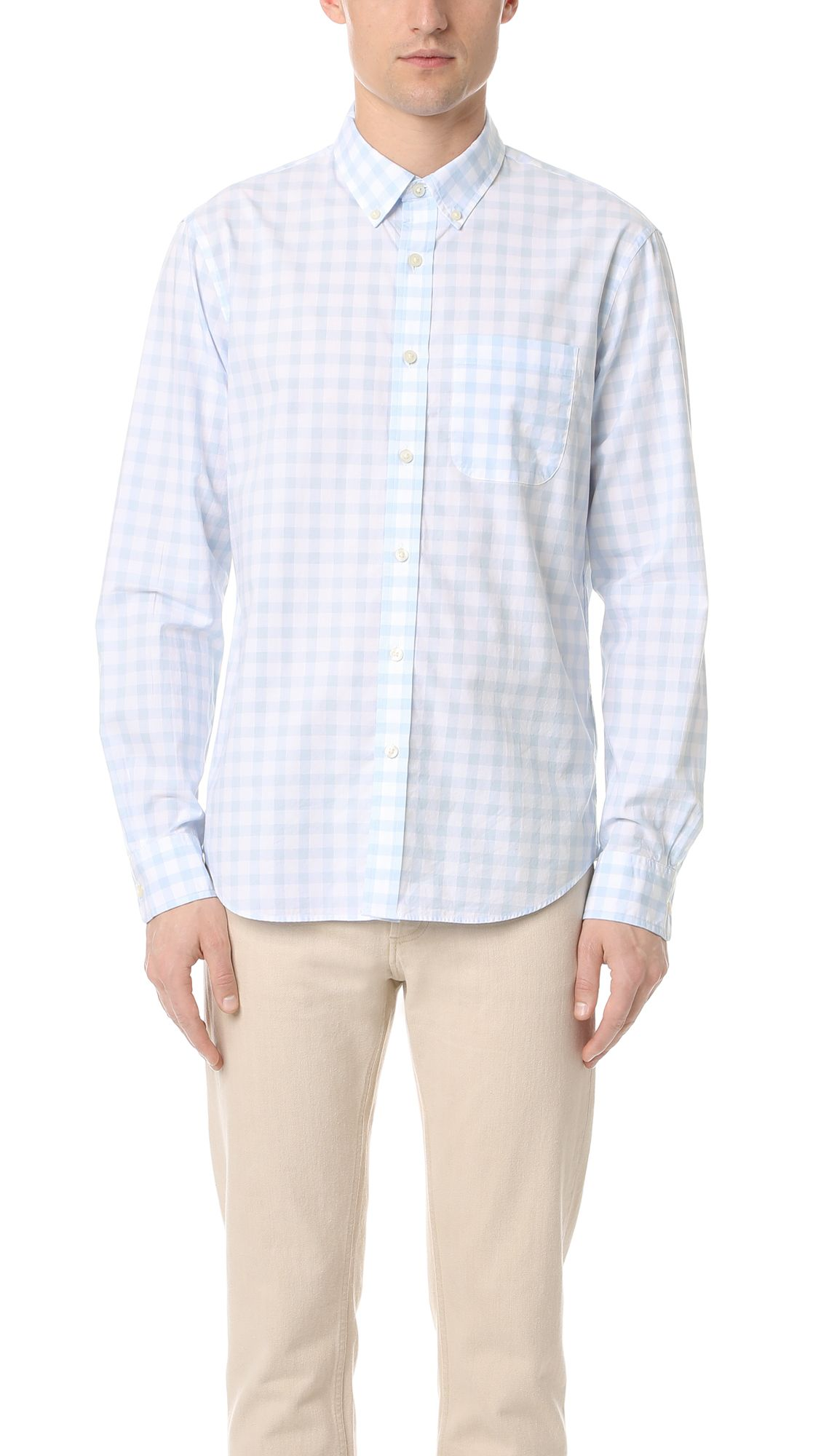 CLUB MONACO Button-down Collar Cotton Oxford Shirt - White
