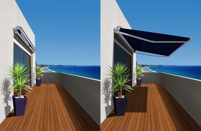 Folding Arm Awnings Folding Arm Awnings Are Ideal As A Roll Away Cover For A Patio Deck Balcony Or Commercial Applicat Outdoor Awnings House Awnings Outdoor