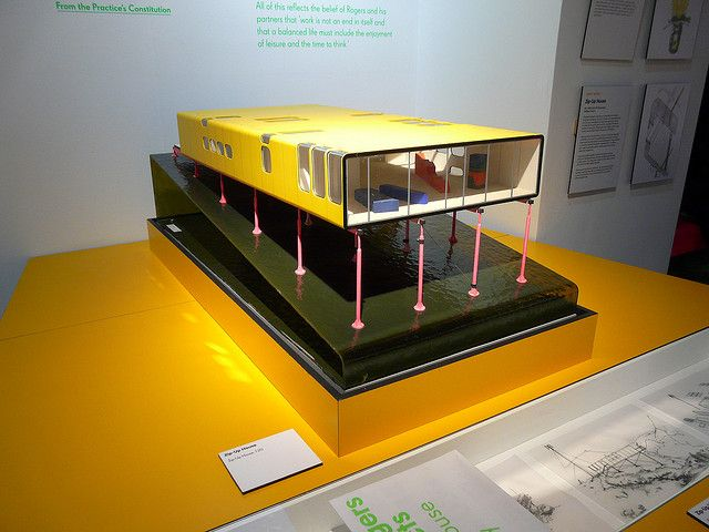 Architecture House Model zip-up house model, richard rogers + architects exhibition, design