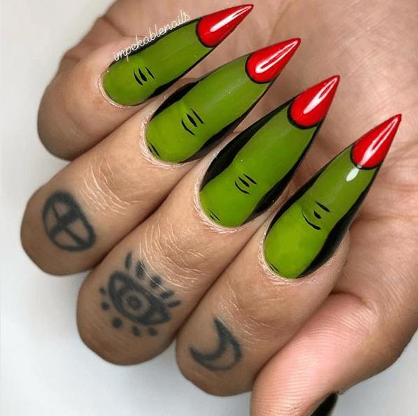 Pin On Nails In 2020 Halloween Nails Halloween Acrylic Nails Halloween Nail Designs