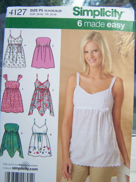 b26320496226d4 Simplicity 4127 Women s Top Sewing Pattern by WitsEndDesign