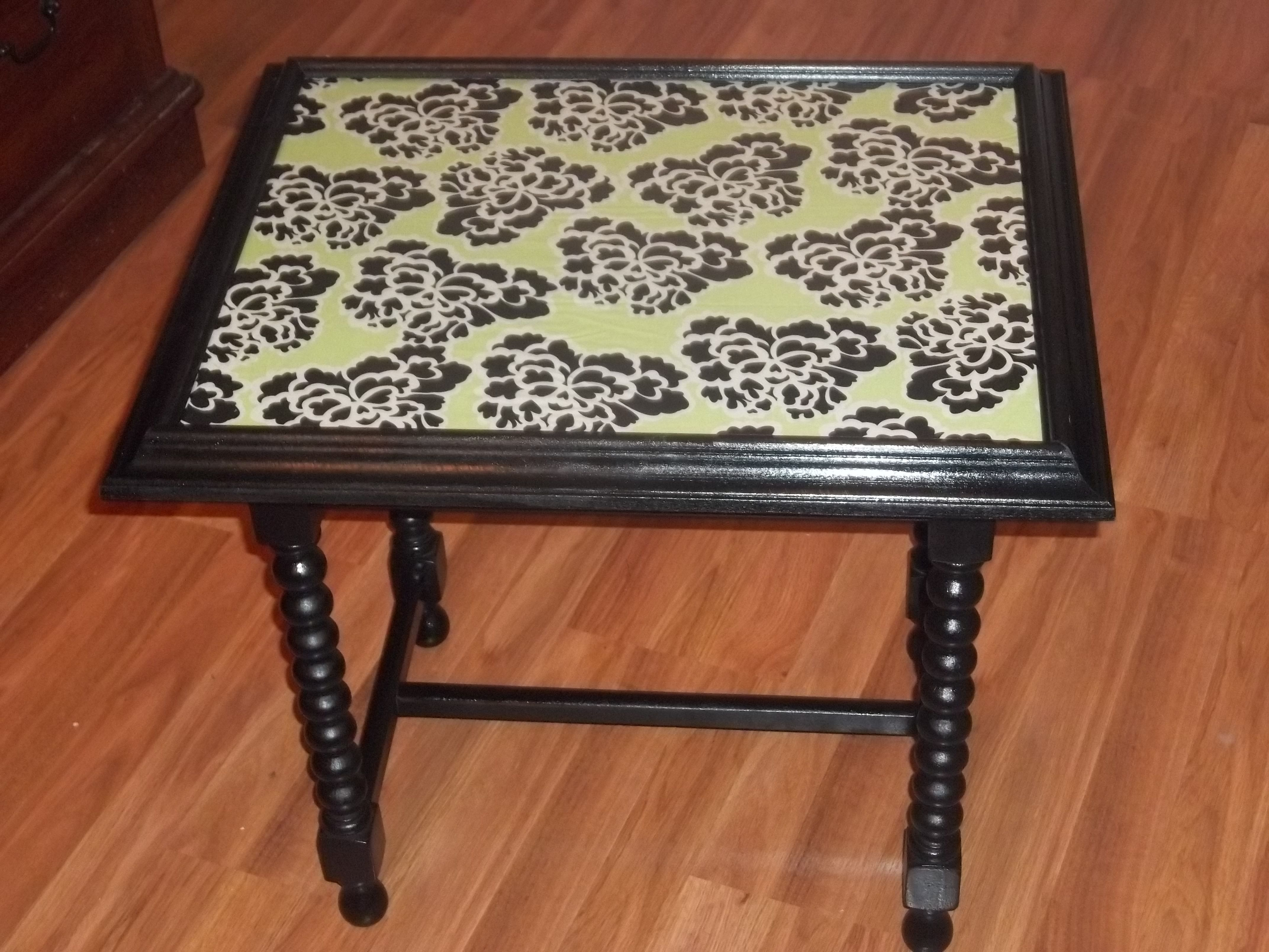 Repurposed Picture Frame Into Table Top