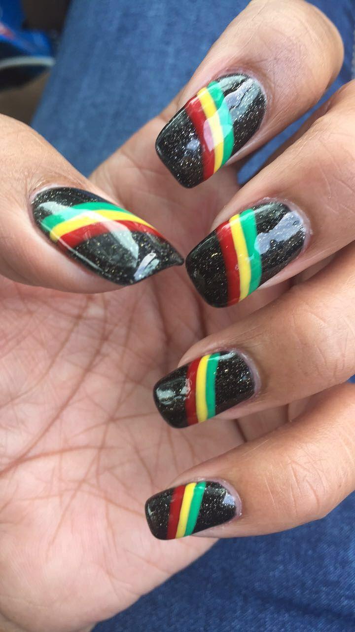 Rasta Nails Design : rasta, nails, design, Rasta, Nails,, Nails