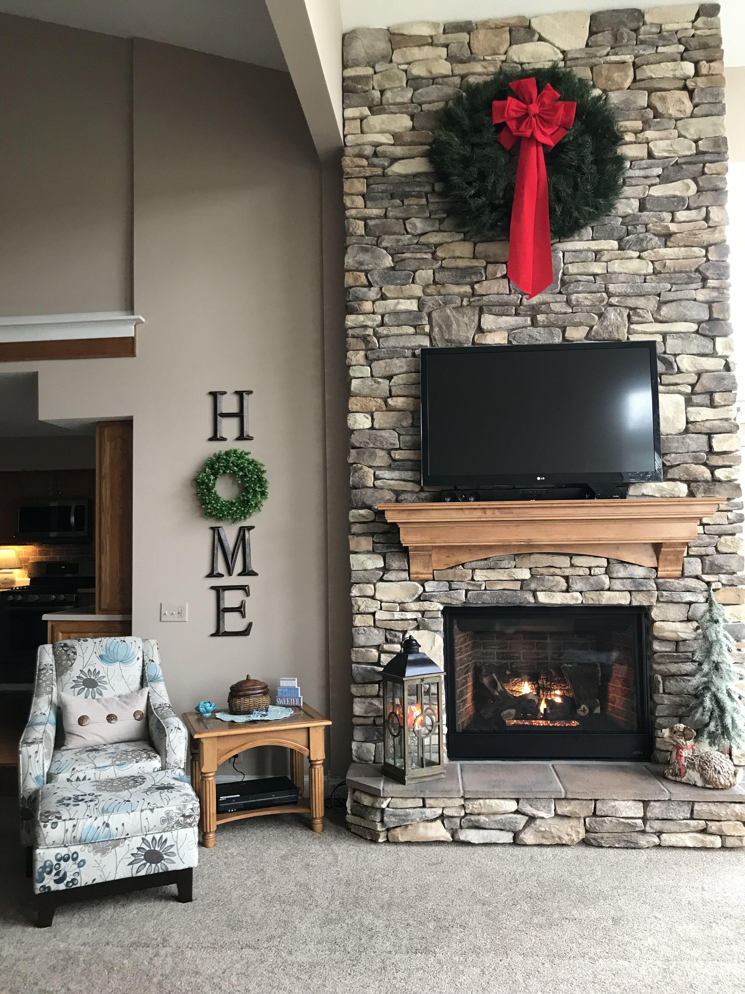 New fireplace!! | Fireplace, Holiday decor, Decor