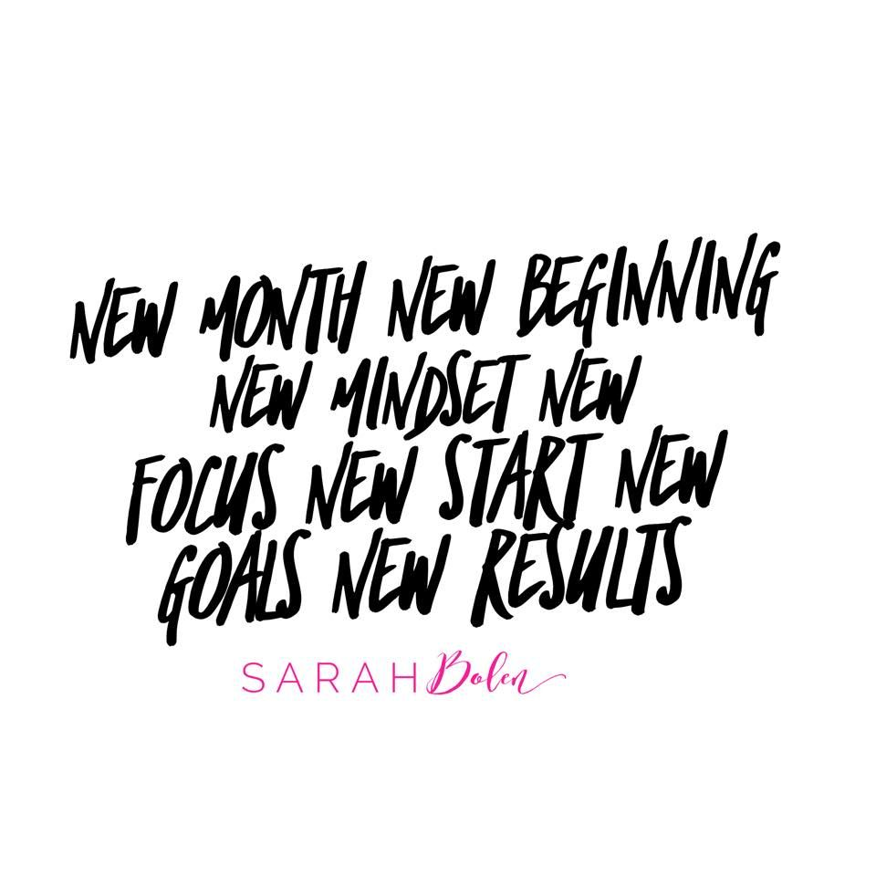 New Month New Beginning New Mindset New Focus New Start New Goals