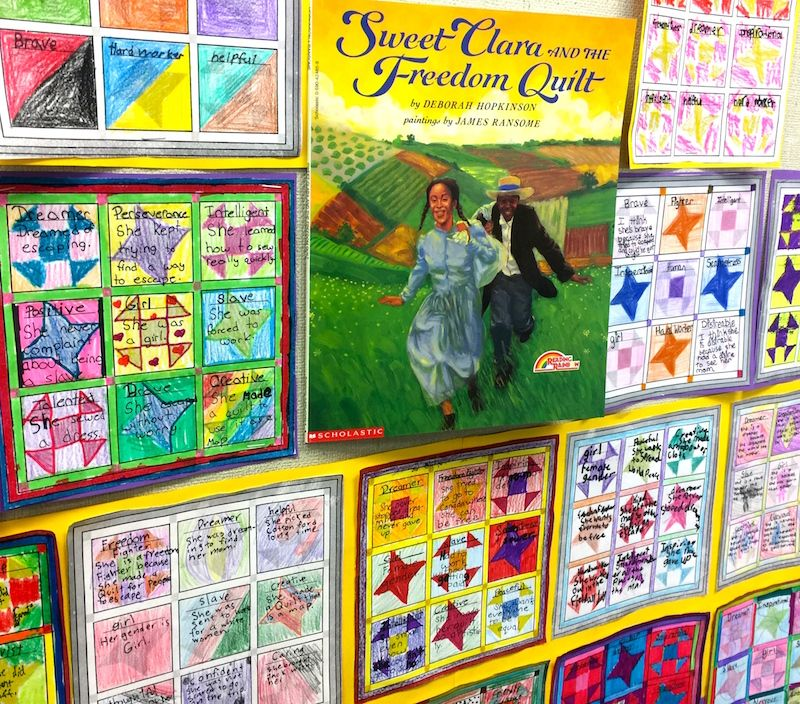 I Sweet Clara And The Freedom Quilt I A Common Core Complex Text Scholastic Com Freedom Quilt Black History Month Art Projects Freedom Quilt Activities
