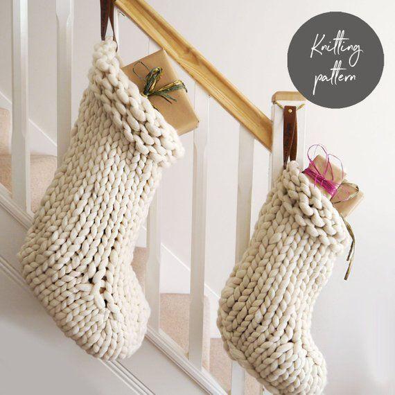 Jumbo Knit Stockings Pattern - Knit your own jumbo knit Christmas ...