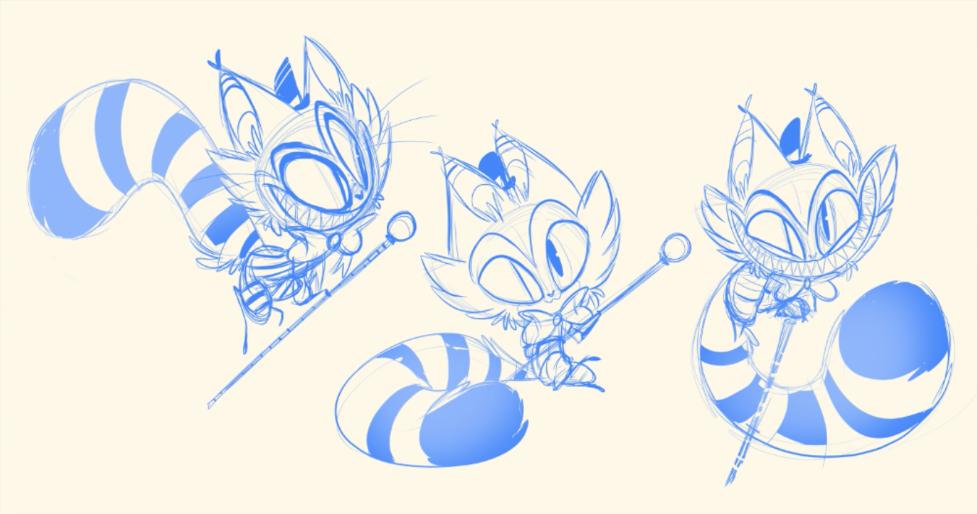 Sketches of Cheshire by Vivziepop.
