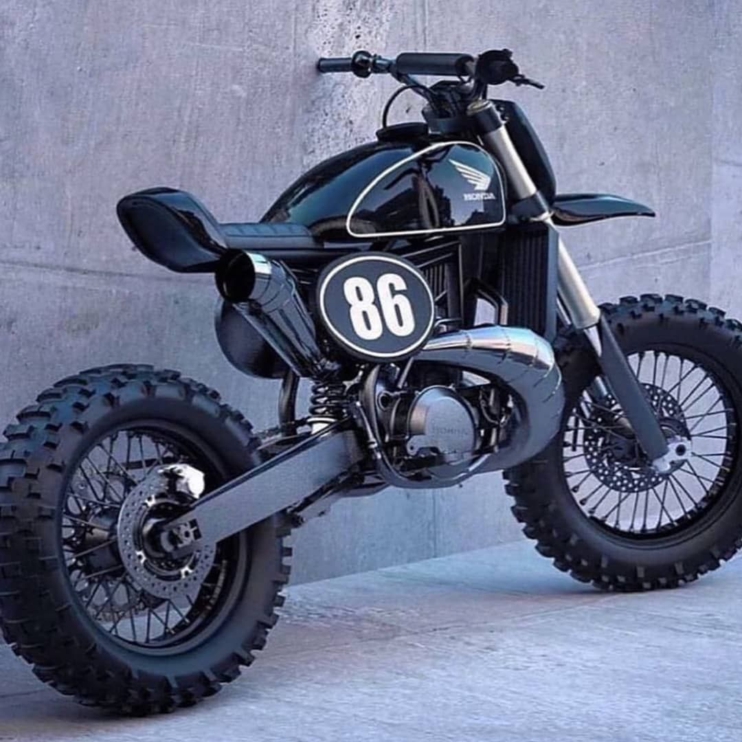 Ghis Bike Honda Cr500 Scrambler Moto Motoporn Bikeporn