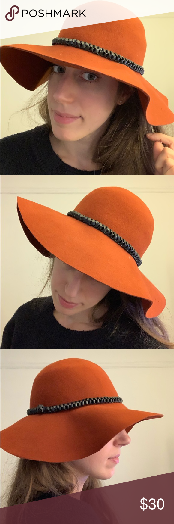 9415e2618cf Forever 21 • wool felt wide brim floppy hat Great pre-owned condition! Terra