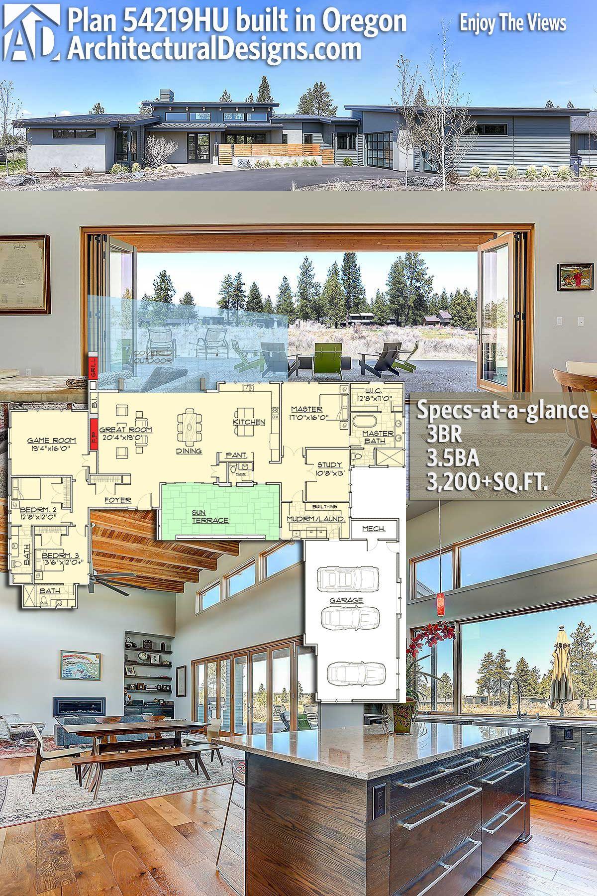 Architectural Designs House Plan 54219hu Called Enjoy The Views Has A Sun