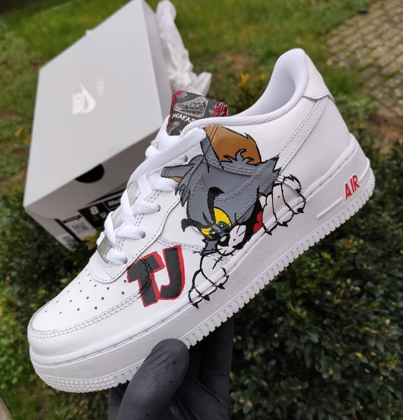 Bestseller Nike Air Force One 1 Original Custom Shoes Cat &   Etsy ...