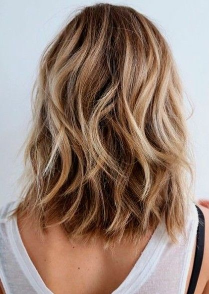 Color Length Beachy Waves Haare In 2019 Frisur Dicke