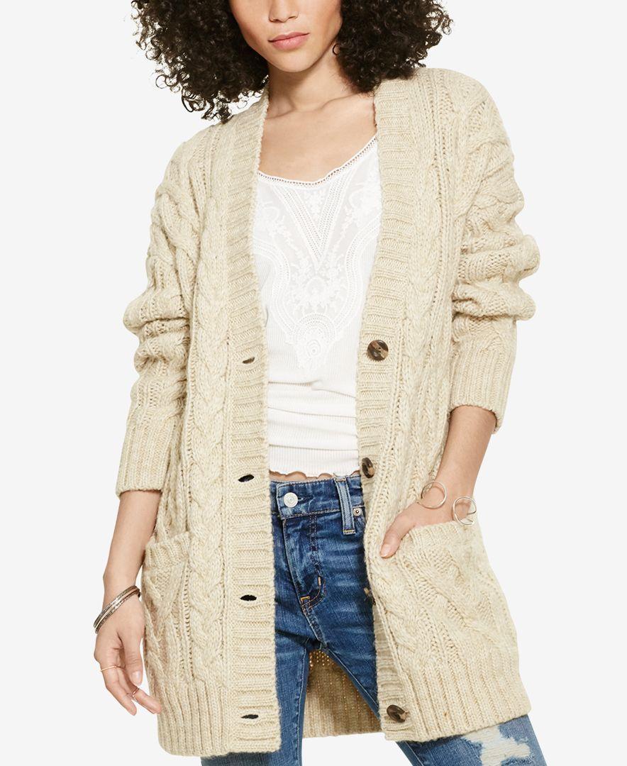 Denim & Supply Ralph Lauren Cable-Knit Boyfriend Sweater | Cable ...