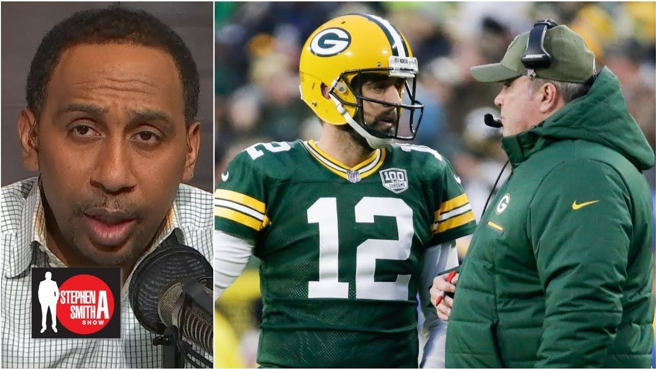 Aaron Rodgers Greatness Gets Him A Pass In The Mccarthy Situation Stephen A Smith Show Aaron Rodgers Basketball News Got Him