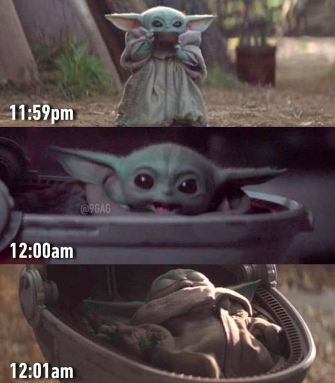 Happy New Years Hope Everyone Is Having Fun And Partying It Up Tonight Baby Yoda Style Yoda Meme Happy New Year Baby Yoda Funny