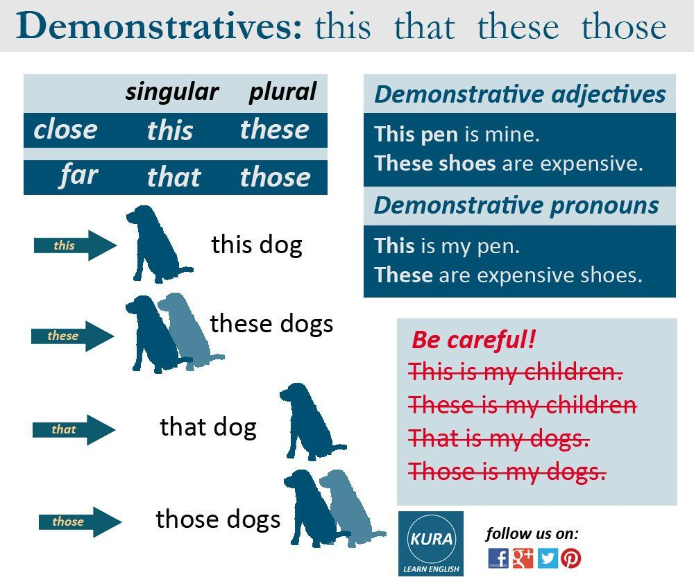 Demonstrative pronouns - use them correctly in English 28