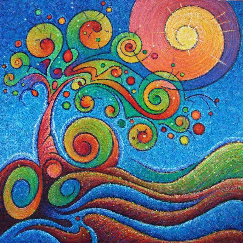 oil sticks- Julie Clemons, Boise, ID-Art Source Gallery ...