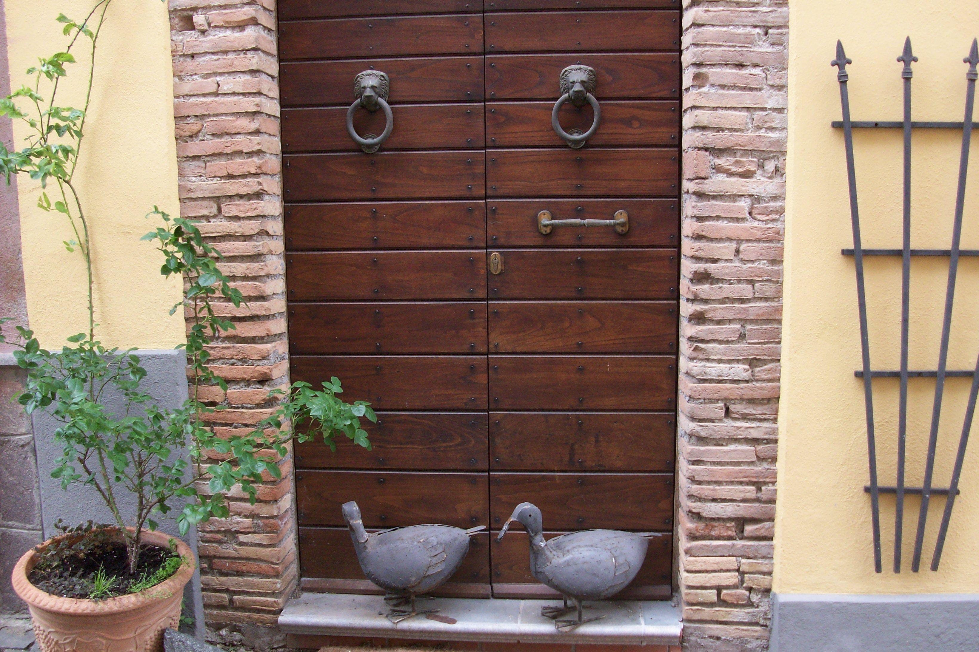 decorated doorway  of Castel Cellesi, VT