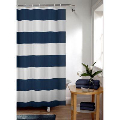 Smart Curtain Porter Stripe Shower Curtain In Indigo In 2019