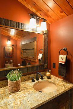 Star Prairie Lake Home rustic-bathroom
